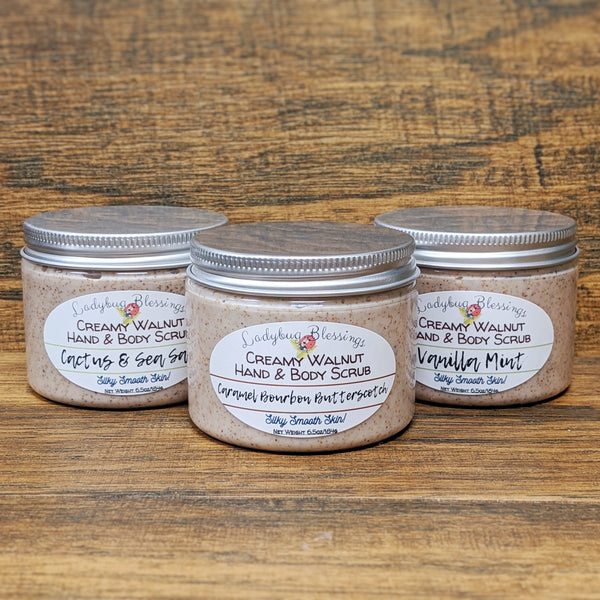 Creamy Walnut Hand & Body Scrub - 6oz Tub
