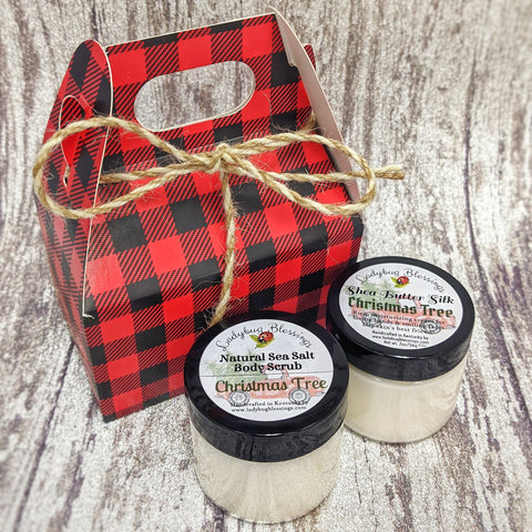 Shea Cream & Salt Scrub Mini Gift Box Sets - Multiple Designs!