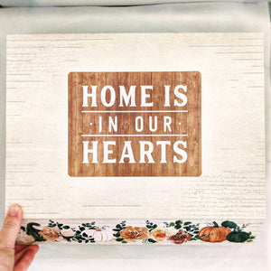 "Holiday Hospitality Boxes #5: ""Home Is In Our Hearts"" harvest box large"