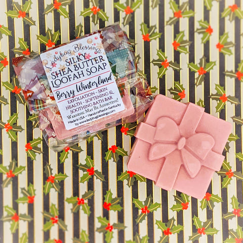 Creamy Shea Butter Holiday Gift Loofah Soaps
