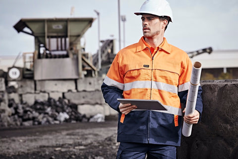 ZJ590 Hi Vis Cotton Drill Jacket