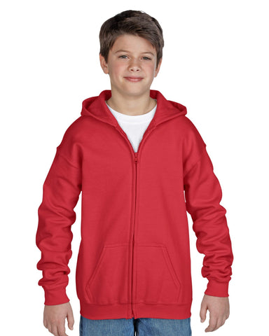 18600B Youth Heavy Weight Zip Hoodie