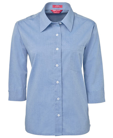 4LSLT JB's LADIES ORIGINAL 3/4 FINE CHAMBRAY SHIRT