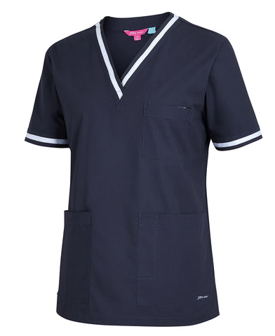 4SCT1 JB's Ladies Contrast Scrubs