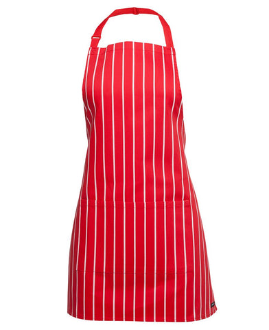 5A JB's APRON WITH POCKET - STRIPED BIB