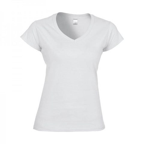 Gildan 64V00L Womens V-neck T-shirt
