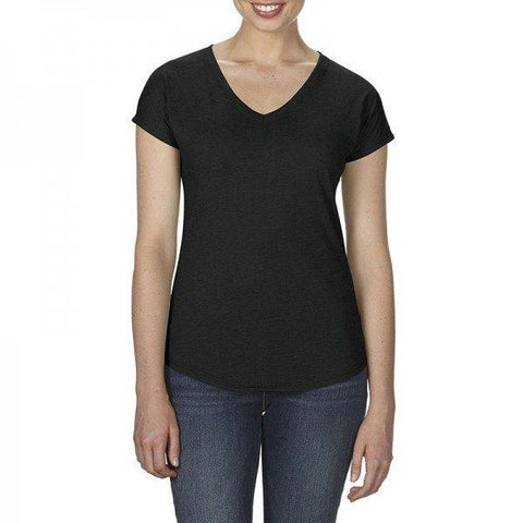 6750VL Anvil Women's Tri-Blend V-Neck Tee