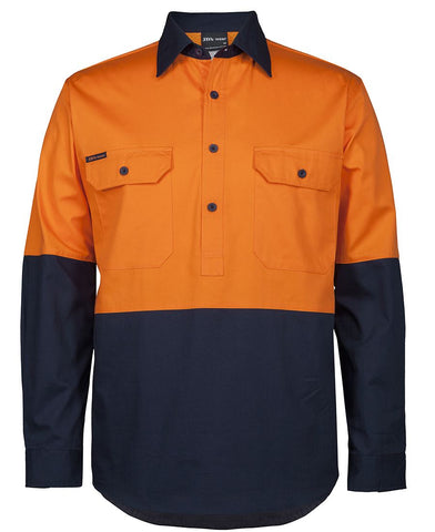 6HVCS JB's HV CLOSE FRONT L/S 150G WORK SHIRT