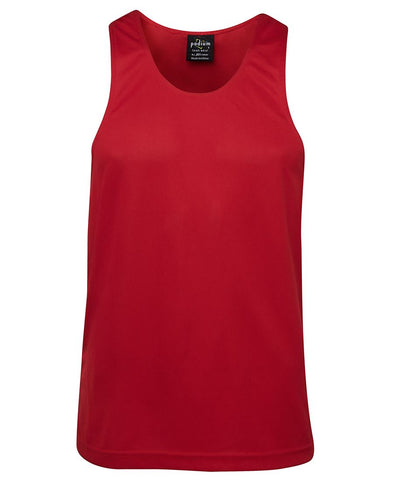 7PS JB's PODIUM POLY SINGLET RED - Seconds