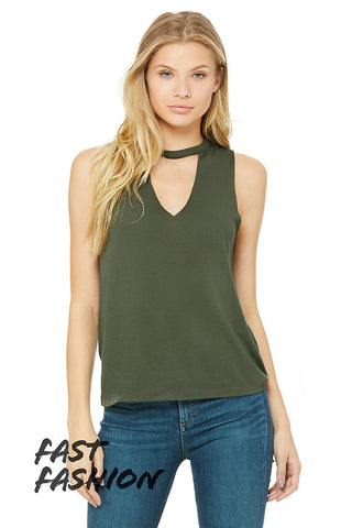 Bella+Canvas Womens 8808 Flowy Cut Neck Tank