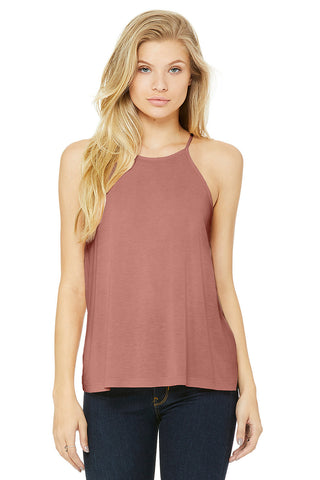Womens 8809 Flowy High Neck Tank