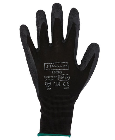8R003 JB's BLACK LATEX GLOVES (12 PK)
