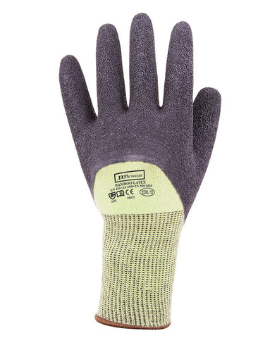 8R025 JB's BAMBOO LATEX CRINKLE 3/4 DIPPED GLOVES 12PK