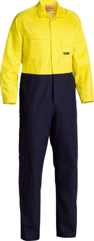 BC6357 Bisley 2 Tone Hi Vis Overalls Regular Weight - Regular