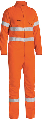 BC8085T Bisley Tencate Tecasafe® Plus 700 Taped Hi Vis Engineered FR Vented Coverall - Stout