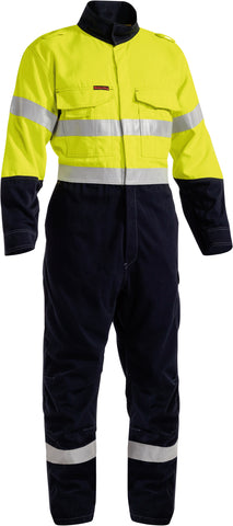 BC8086T Bisley Tencate Tecasafe® Plus 700 X Taped Two Toned Hi Vis Engineered FR Vented Coverall - Stout
