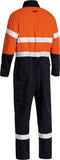 BC8186T Bisley Tencate Tecasafe® Plus 580 Taped Two Tone Hi Vis Lightweight FR Non Vented Engineered Coverall - Stout
