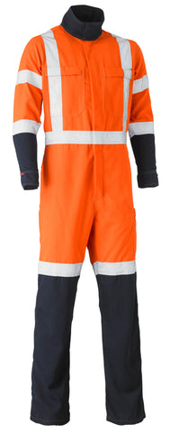 BC8393XT Bisley Tencate Tecasafe® Plus 700 X Taped Hi Vis TTMC-W FR Vented Coverall - Regular