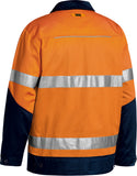 BJ6917T Bisley 3M Taped Two Tone Hi Vis Liquid Repellent Cotton Drill Jacket