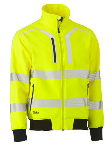 BJ6979T Bisley Taped Hi Vis Soft Shell Bomber Jacket