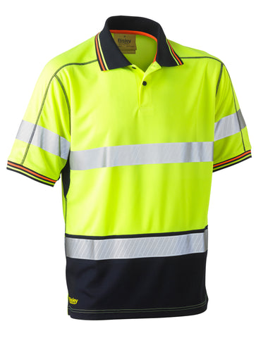 BK1219T Bisley Taped Two Tone Hi Vis Polyester Mesh Short Sleeve Polo Shirt