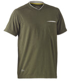 BK1933 Bisley Flex & Move ™ Cotton Rich V Neck Short Sleeve Tee
