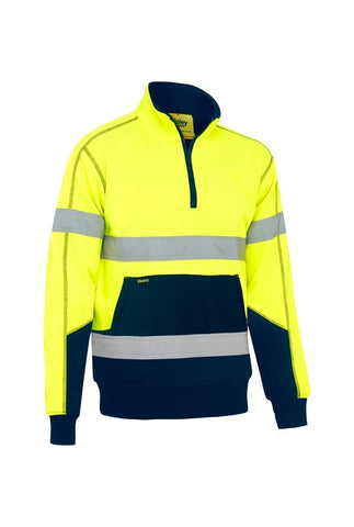 BK6987T Bisley Taped Hi Vis Fleece Pullover With Sherpa Lining