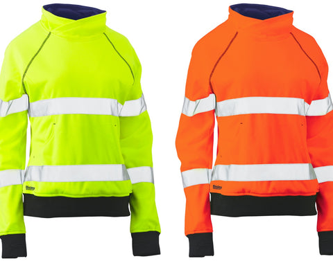 BKL6818T Bisley Womens Taped Hi Vis Fleece Jumper