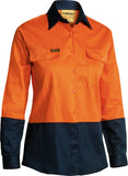 BL6267 Bisley Women's 2 Tone Hi Vis Drill Shirt - Long Sleeve