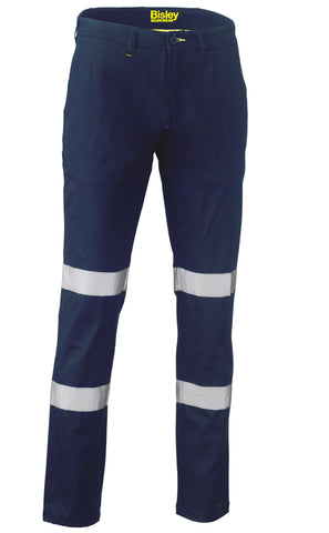 BP6008T Bisley Taped Biomotion Stretch Cotton Drill Work Pants - Stout