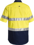BS1896 Bisley 3M Taped Two Tone Hi Vis Cool Lightweight Shirt - Short Sleeve