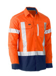 BS6177XT Bisley Flex & Move™ Two Tone Hi Vis Stretch Utility Shirt - Long Sleeve