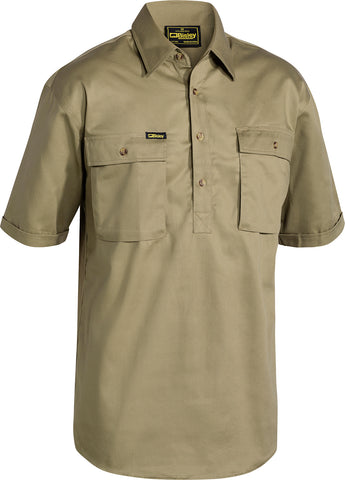BSC1433 Bisley Closed Front Cotton Drill Shirt - Short Sleeve