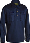 BSC6433 Bisley Closed Front Cotton Drill Shirt - Long Sleeve