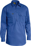 BSC6820 Bisley Closed Front Light Weight Drill Shirt - Long Sleeve