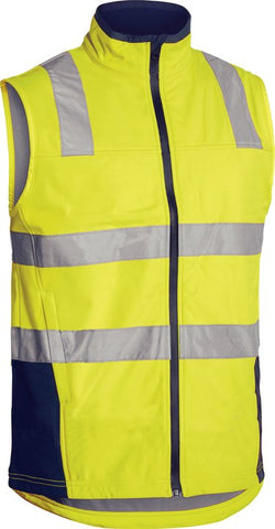 BV0348T Bisley Taped Hi Vis Softshell Vest