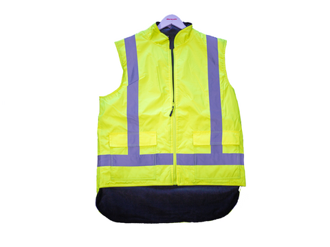 R461X Workguard Reversible Fleece Lined Hi-Vis Safety Vest