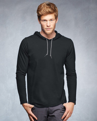 Anvil 987 Long Sleeve Hooded T-Shirt