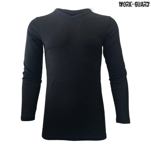 R455B Workguard Youth Long Sleeve Thermal V-Neck