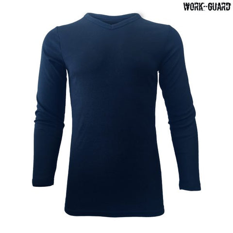 R455X Workguard Adult Long Sleeve Thermal V-Neck