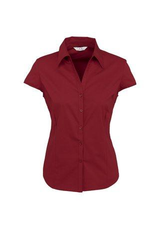 S119LN BizCollection Metro Ladies Cap Sleeve Shirt