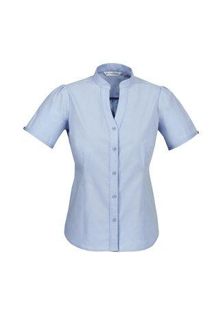 S262LS BizCollection Chevron Ladies Stand Collar Shirt