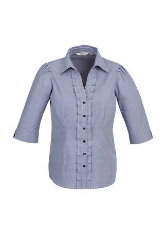 S267LT BizCollection Edge Ladies ¾ Sleeve Shirt