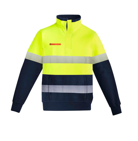 Syzmik ZT150 Hi Vis Fleece Jumper | Orange Flame HRC 2 yellow front