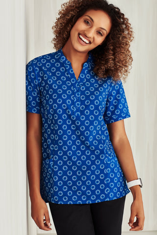 CS950LS Biz Care Womens Florence Daisy Print Tunic