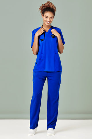 CSP944LL BizCollection Women's Avery Multi-Pocket Straight Leg Scrub Pant