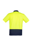 ZH231 Hi Vis Basic Spliced Short Sleeve Polo