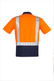 ZH233 Hi Vis Spliced Polo - Shoulder Taped