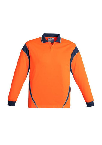 ZH249 Hi Vis Long Sleeve Aztec Polo