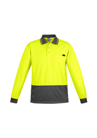 ZH410 Syzmik Mens Comfort Back Fluro Long Sleeve Polo Shirts